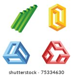 unreal geometrical shapes... | Shutterstock .eps vector #75334630