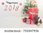 christmas and new year holidays ... | Shutterstock . vector #753347956
