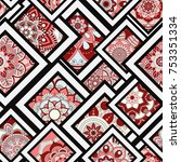 seamless pattern tile with...   Shutterstock .eps vector #753351334