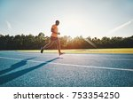 fit and focused young african... | Shutterstock . vector #753354250