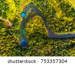 aerial view of the karst lakes... | Shutterstock . vector #753357304