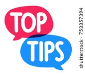 top tips. vector hand drawn... | Shutterstock .eps vector #753357394