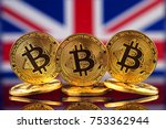 physical version of bitcoin ... | Shutterstock . vector #753362944