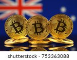 physical version of bitcoin ... | Shutterstock . vector #753363088