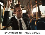 smiling young businessman...   Shutterstock . vector #753365428