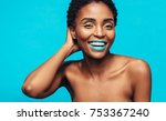 african woman with beautiful... | Shutterstock . vector #753367240