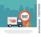delivery service. delivery... | Shutterstock .eps vector #753370333