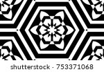 black and white geometric... | Shutterstock . vector #753371068
