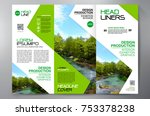 business brochure. flyer design.... | Shutterstock .eps vector #753378238