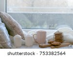 cozy winter still life  warm... | Shutterstock . vector #753382564