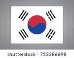 simple flag of south korea ... | Shutterstock .eps vector #753386698