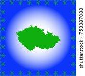 map of czech republic | Shutterstock .eps vector #753387088
