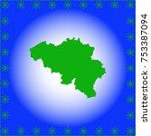map of belgium  | Shutterstock .eps vector #753387094