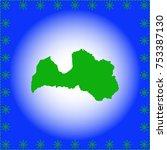 map of latvia | Shutterstock .eps vector #753387130