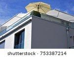 modern balcony with hand rails... | Shutterstock . vector #753387214