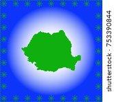 map of romania | Shutterstock .eps vector #753390844