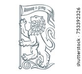 image of the heraldic lion with ... | Shutterstock .eps vector #753392326