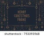 merry christmas card template... | Shutterstock .eps vector #753393568