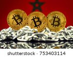 physical version of bitcoin ... | Shutterstock . vector #753403114