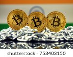 physical version of bitcoin ... | Shutterstock . vector #753403150