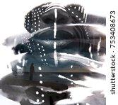 paintography. black man's...   Shutterstock . vector #753408673