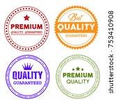 premium quality guaranteed... | Shutterstock .eps vector #753410908
