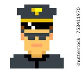 police officer sheriff cop...   Shutterstock .eps vector #753411970