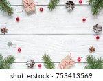Christmas Frame Made Of Fir...
