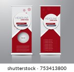 roll up banner stand template.... | Shutterstock .eps vector #753413800