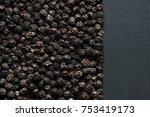 black pepper peas from above ... | Shutterstock . vector #753419173