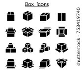 box icon set | Shutterstock .eps vector #753419740