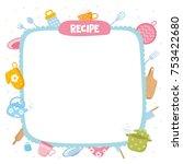 recipe template. creative frame ... | Shutterstock .eps vector #753422680