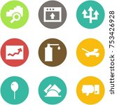 origami corner style icon set   ... | Shutterstock .eps vector #753426928