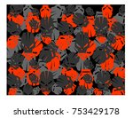 a vector illustration of a red... | Shutterstock .eps vector #753429178