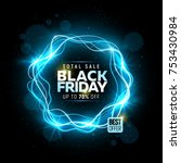 black friday sale banner with... | Shutterstock .eps vector #753430984