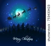 christmas holidays background... | Shutterstock .eps vector #753433423