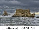 greece  landscape of the sea... | Shutterstock . vector #753435730