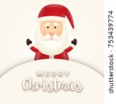 cheerful  cute  smiling santa... | Shutterstock .eps vector #753439774