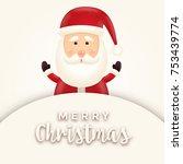cheerful  cute  smiling santa...   Shutterstock .eps vector #753439774