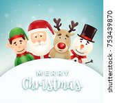 christmas greeting card with... | Shutterstock .eps vector #753439870
