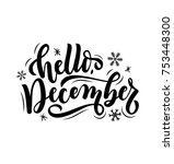 hello december quote isolated... | Shutterstock .eps vector #753448300