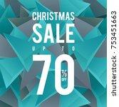 christmas sale banner design... | Shutterstock .eps vector #753451663
