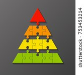 four levels color pyramid.... | Shutterstock .eps vector #753453214