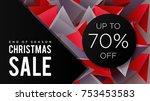 christmas sale banner design... | Shutterstock .eps vector #753453583