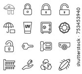 thin line icon set   factory... | Shutterstock .eps vector #753453940