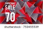 christmas sale banner design... | Shutterstock .eps vector #753455539