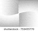 abstract halftone wave dotted... | Shutterstock .eps vector #753455770