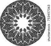 creative mandala design for... | Shutterstock .eps vector #753457363