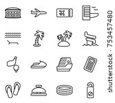 thin line icon set   airport... | Shutterstock .eps vector #753457480