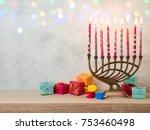 jewish holiday hanukkah... | Shutterstock . vector #753460498